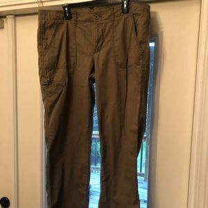 Pants - Brown Boot Cut Pants with Thigh Pocket Size 16